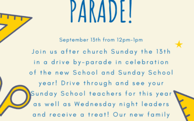 Back to School Parade for Kids and Parents