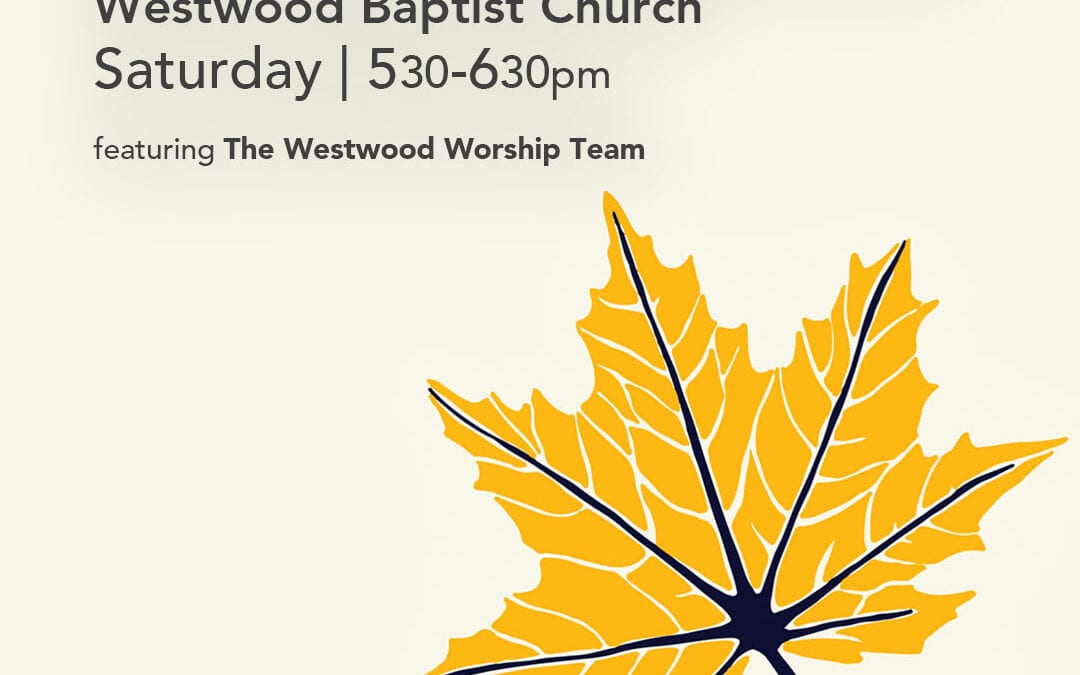 Outdoor Worship Event This Saturday – October 17th